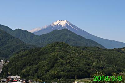 2018年6月8日の富士山写真