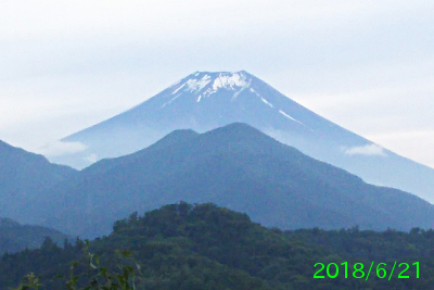2018年6月21日の富士山写真