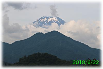 2018年6月22日の富士山写真