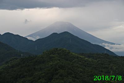 2018年7月8日の富士山写真