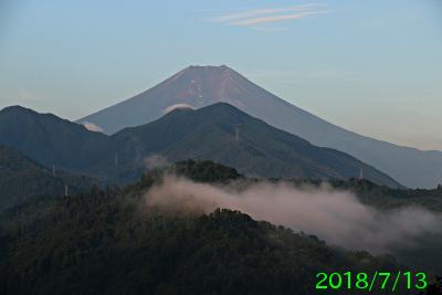 2018年7月13日の富士山写真