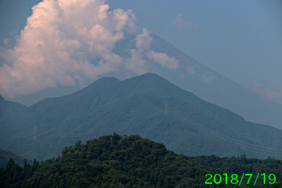 2018年7月19日の富士山写真