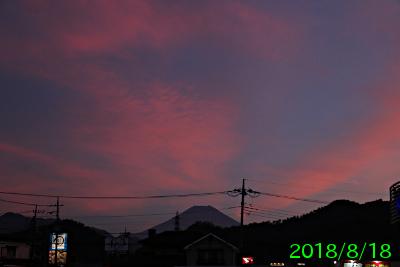 2018年8月18日の富士山写真