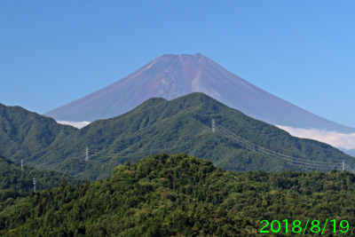 2018年8月19日の富士山写真