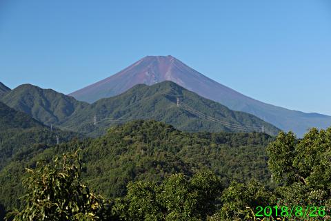 2018年8月26日の富士山写真