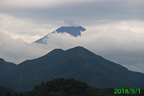 2018年9月1日の富士山写真