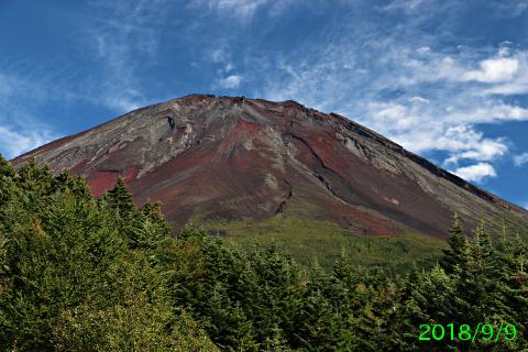 2018年9月9日の富士山写真