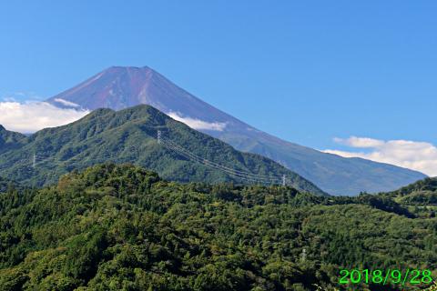 2018年9月28日の富士山写真