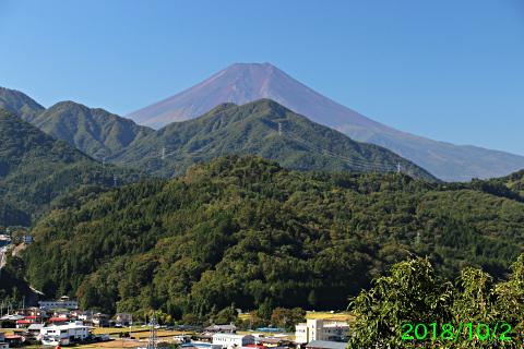 2018年10月2日の富士山写真