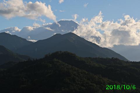 2018年10月6日の富士山写真