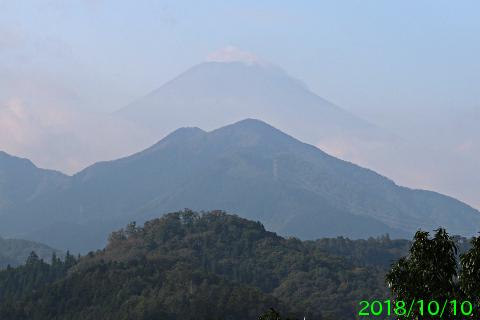 2018年10月10日の富士山写真