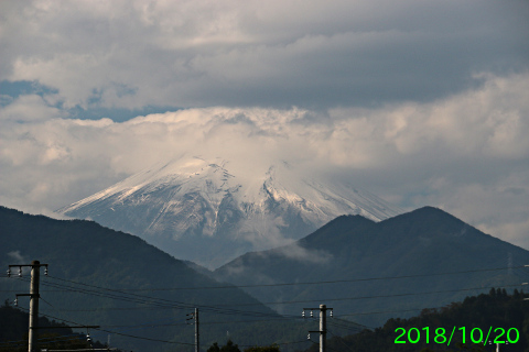 2018年10月20日の富士山写真