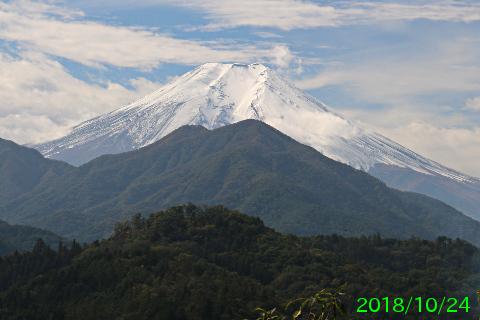 2018年10月24日の富士山写真