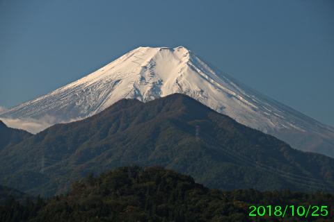 2018年10月25日の富士山写真