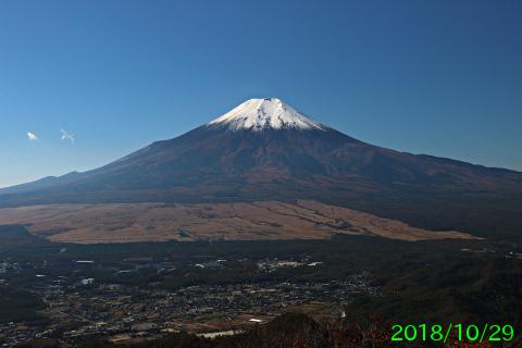 2018年10月29日の富士山写真