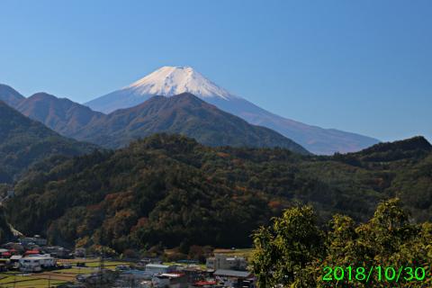 2018年10月30日の富士山写真