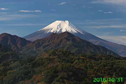 2018年10月31日の富士山写真