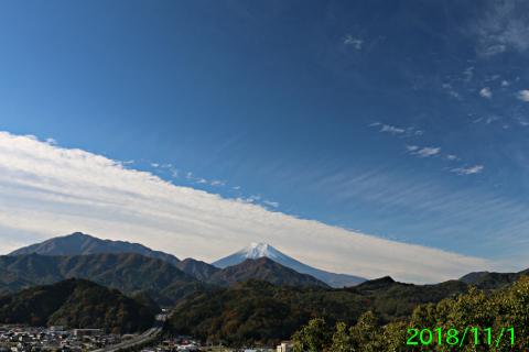 2018年11月1日の富士山写真