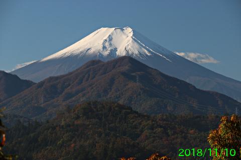 2018年11月10日の富士山写真