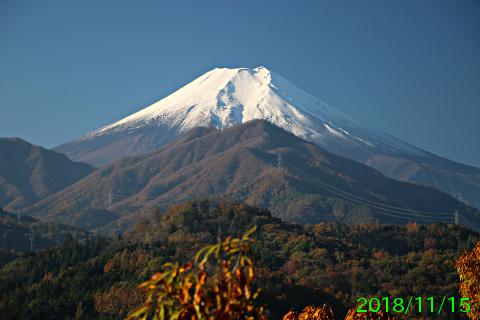 2018年11月15日の富士山写真