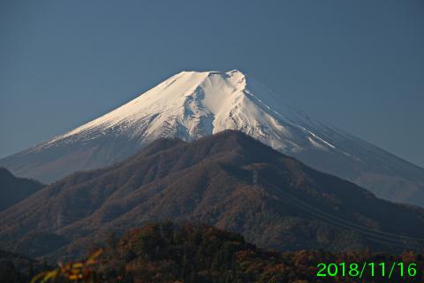 2018年11月16日の富士山写真
