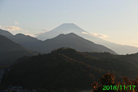 2018年11月17日の富士山写真