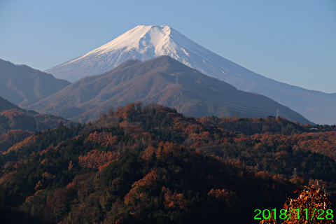 2018年11月28日の富士山写真