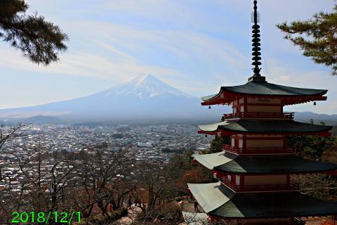 2018年12月1日の富士山写真