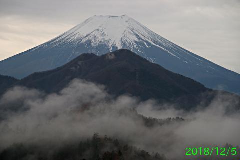 2018年12月5日の富士山写真