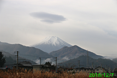 2018年12月7日の富士山写真