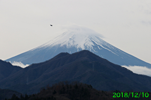 2018年12月10日の富士山写真