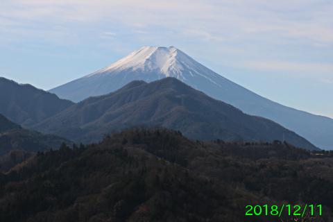 2018年12月11日の富士山写真