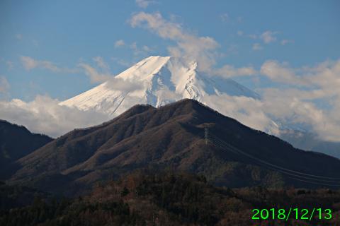 2018年12月13日の富士山写真