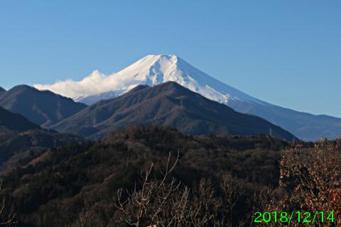 2018年12月14日の富士山写真