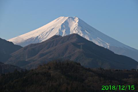 2018年12月15日の富士山写真