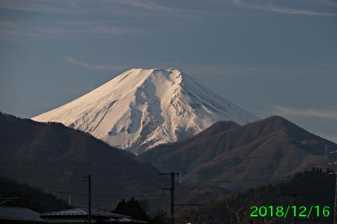 2018年12月16日の富士山写真