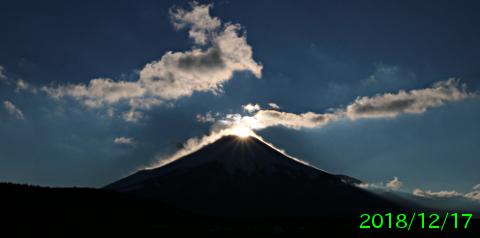 2018年12月17日の富士山写真