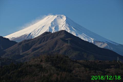 2018年12月18日の富士山写真