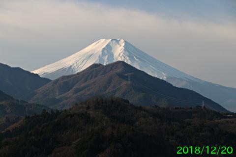 2018年12月20日の富士山写真