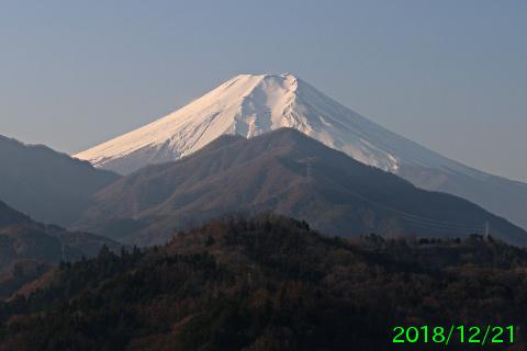 2018年12月21日の富士山写真