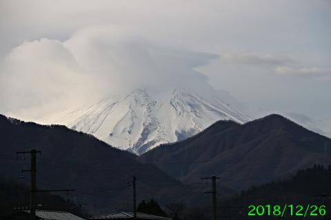 2018年12月26日の富士山写真