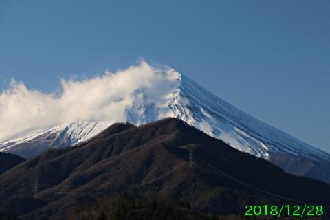 2018年12月28日の富士山写真