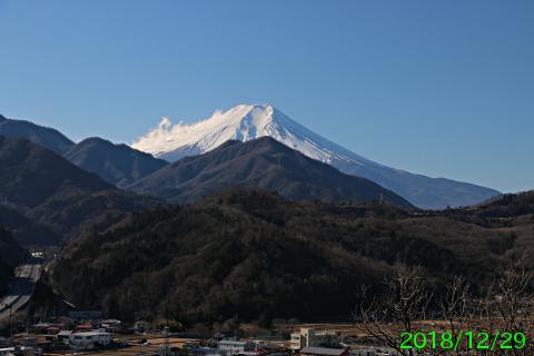 2018年12月29日の富士山写真