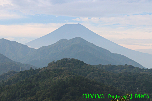 2019年10月23日の富士山写真