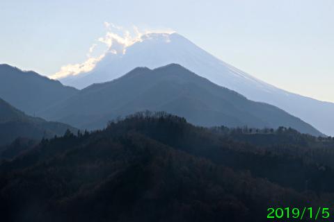 2019年1月5日の富士山