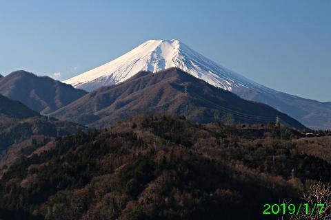 2019年1月7日の富士山