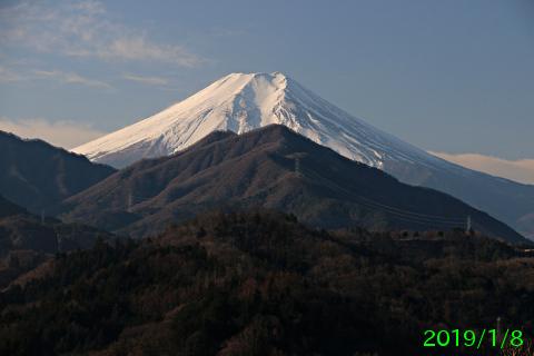 2019年1月8日の富士山