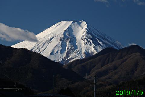 2019年1月9日の富士山