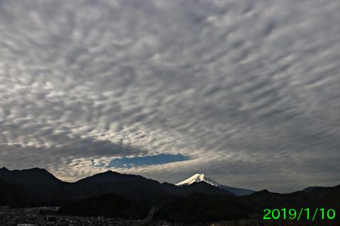2019年1月10日の富士山