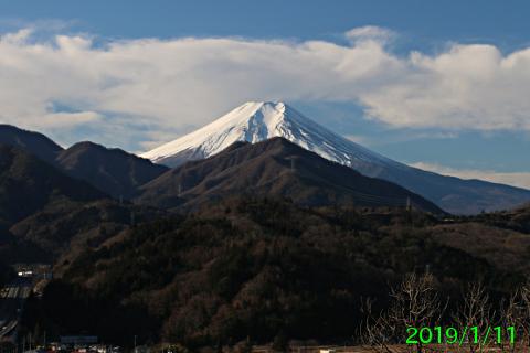 2019年1月11日の富士山